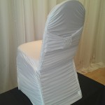 White Rouched Chair Cover