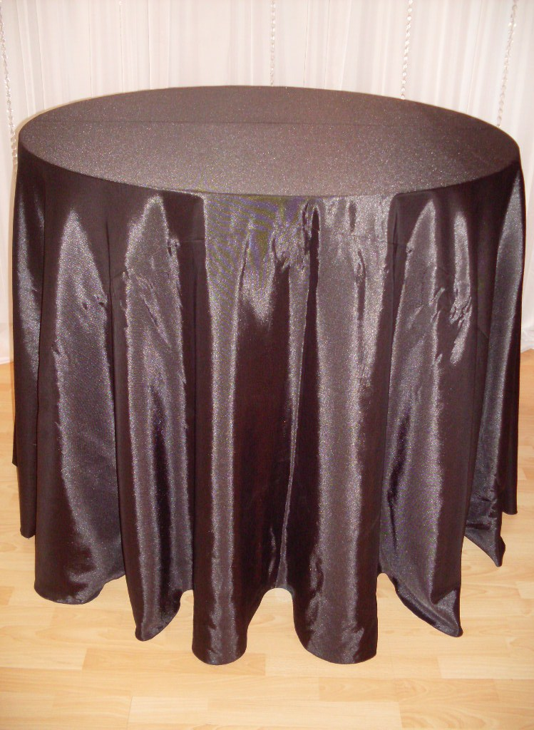 Chair Decor 187 Black Bengaline Tablecloth