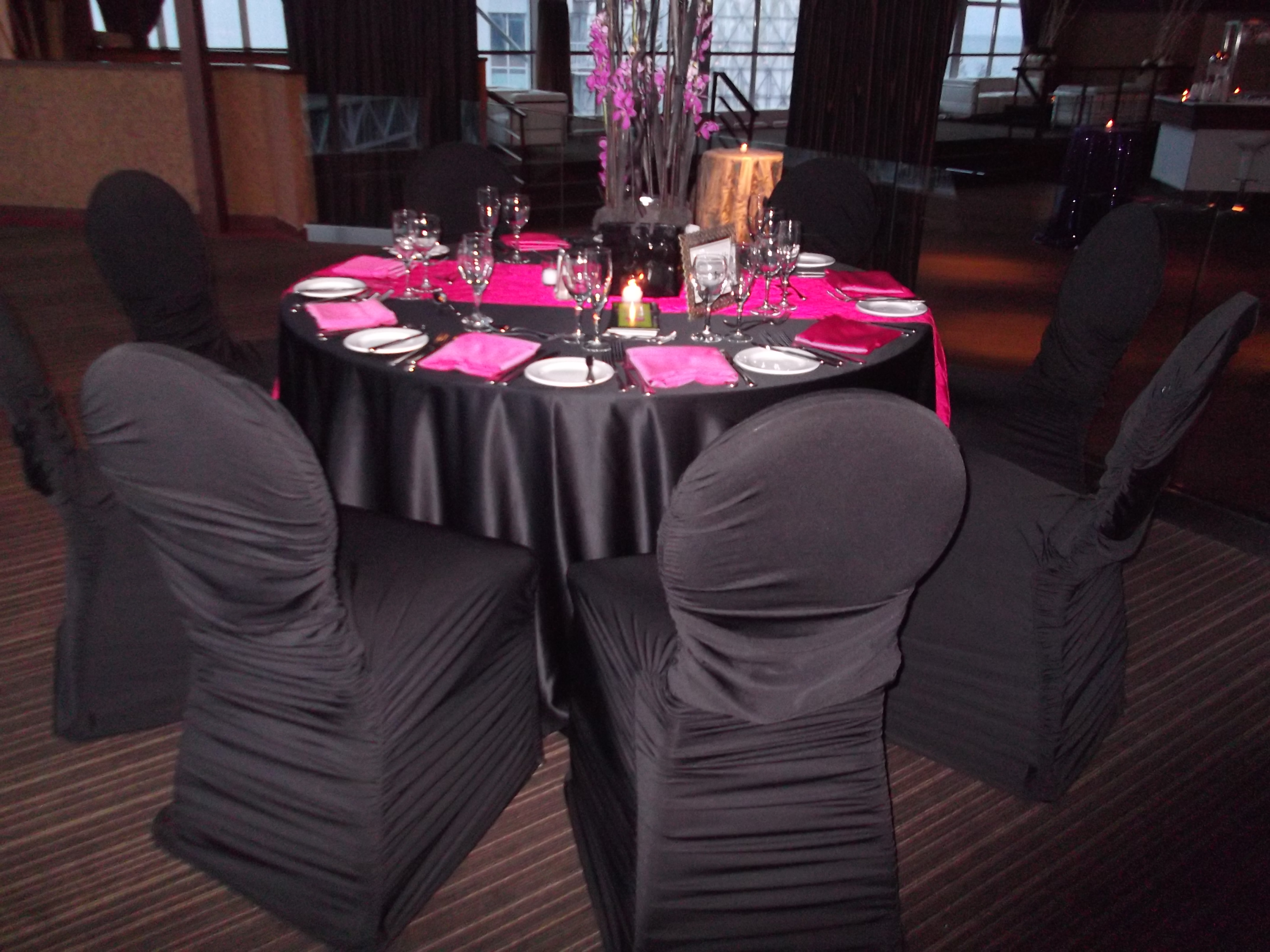 venue covers for marina rental design with x black linens measurements cover village to regard rentals chair wedding