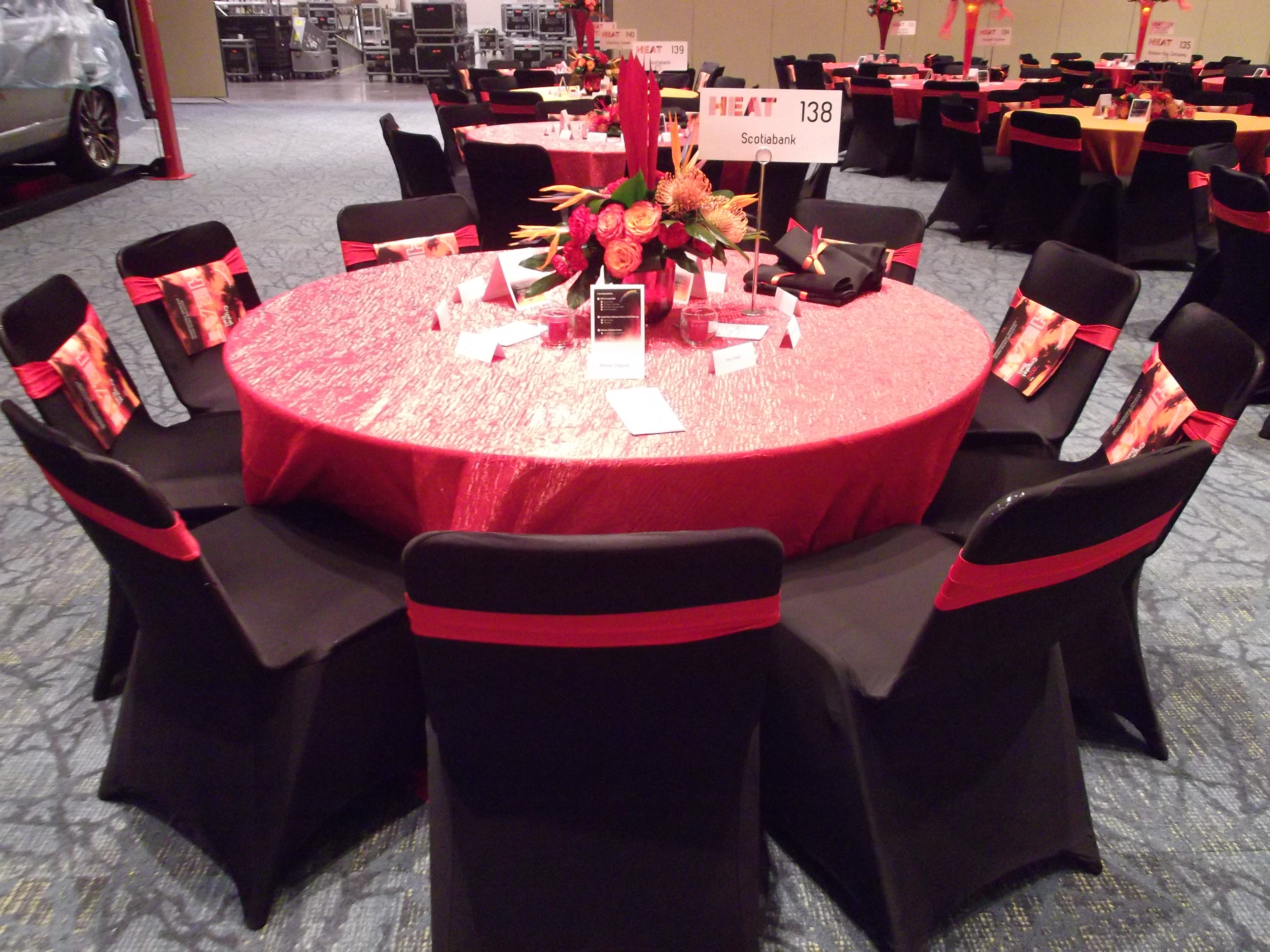 pin wedding hot black with bow pink decor ties chair covers