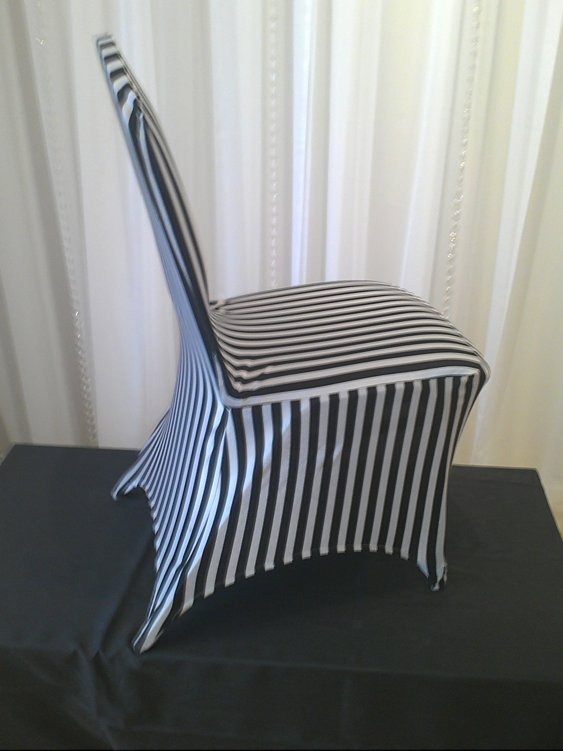 Black U0026 White Stripe Stretch Chair Cover
