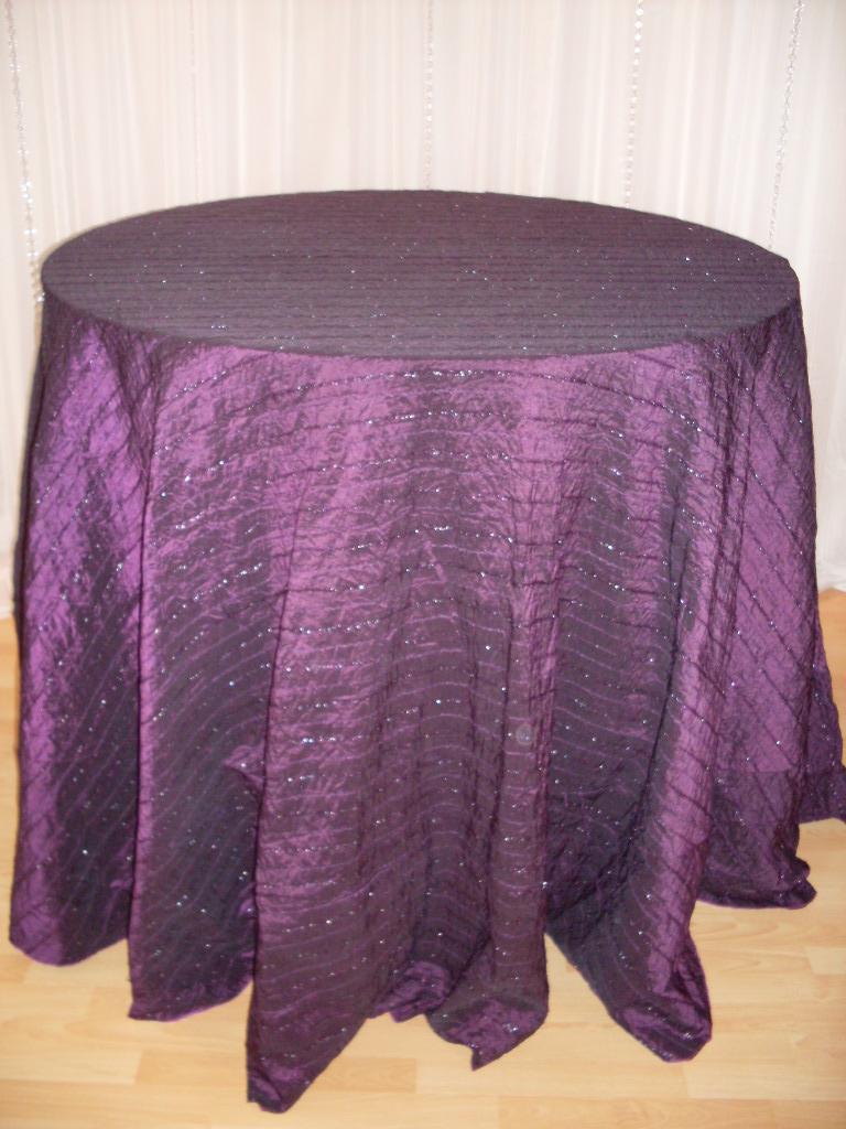 Chair Decor 187 Eggplant Sparkle Tablecloth