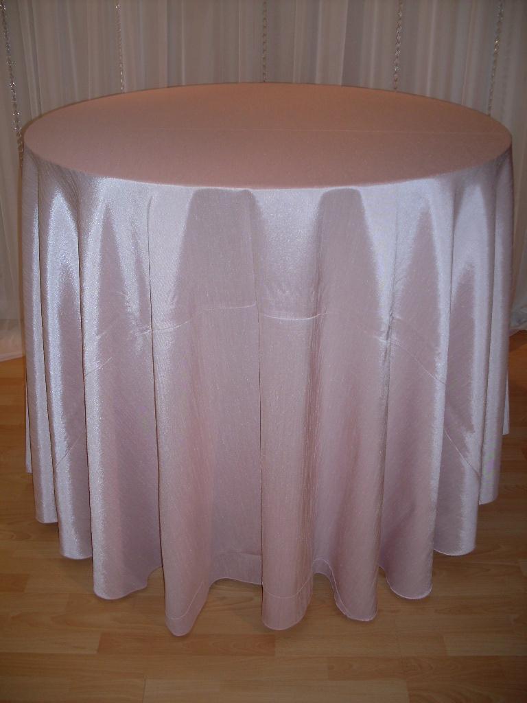 Blush Faux Silk Tablecloth