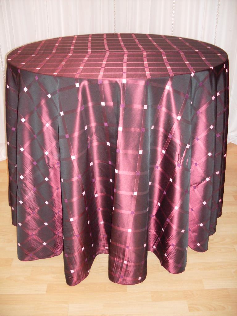 Chair Decor 187 Orchid Plaid Tablecloth