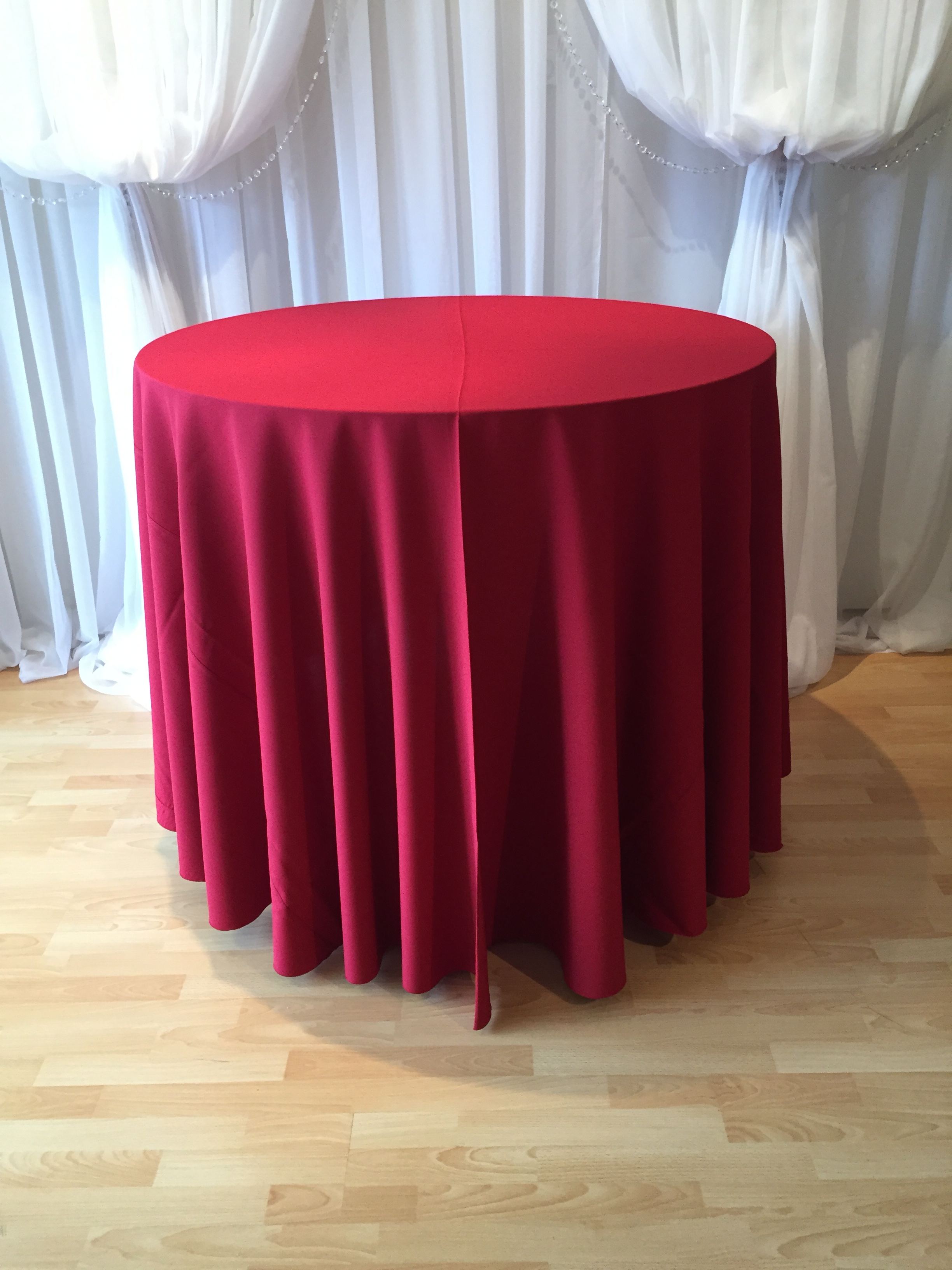 Chair Decor 187 Red Polyester Tablecloth