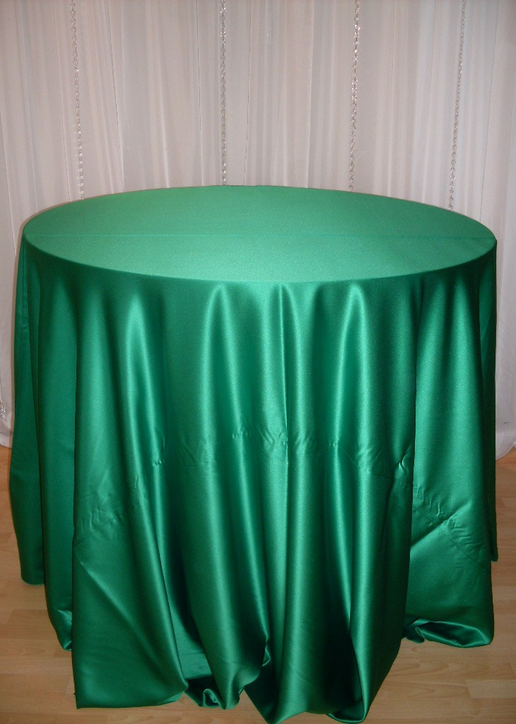 Home linens satin emerald green satin tablecloth