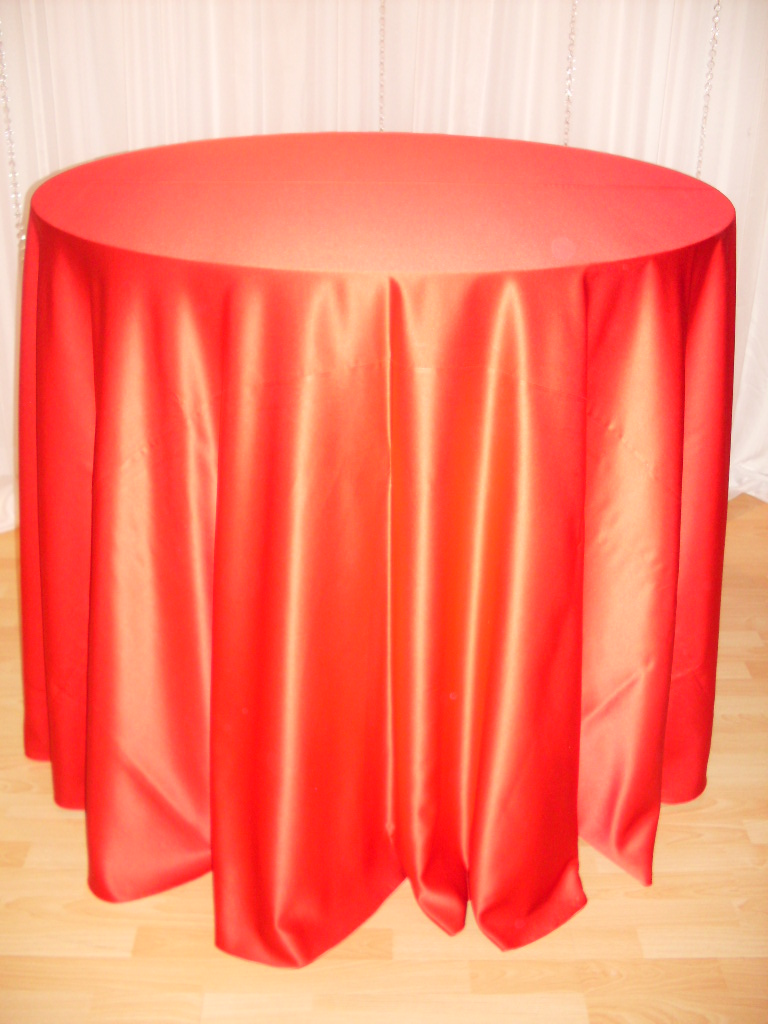 Chair Decor 187 Red Satin Tablecloth