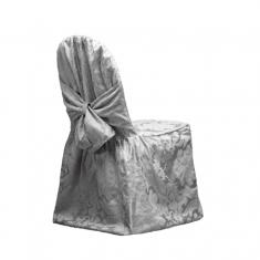 Silver_Brocade_Chair Cover