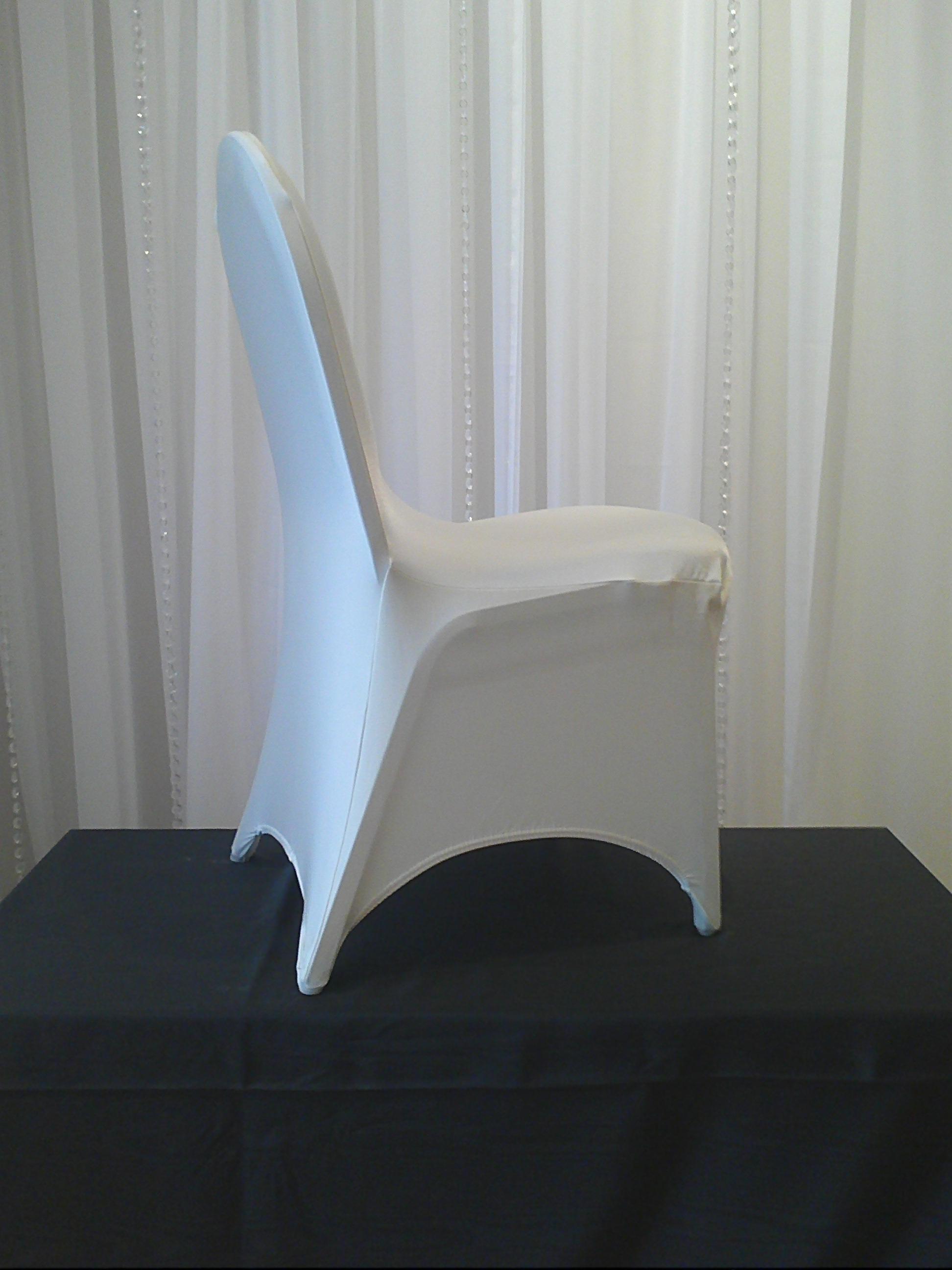 Chair Decor 187 White Stretch Chair Cover