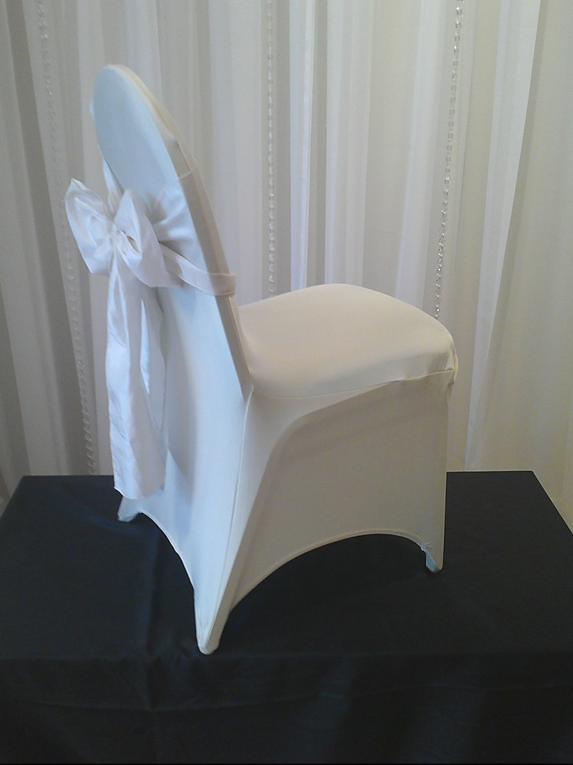 Chair Decor Ivory Stretch Chair Cover