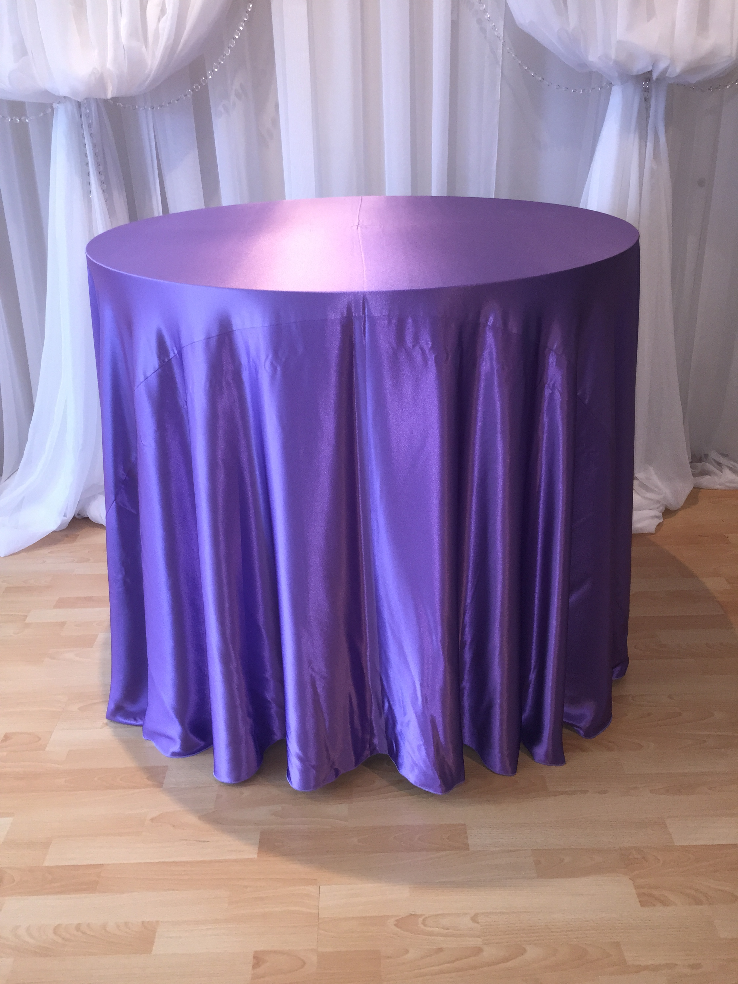 Chair Decor 187 Lavendar Satin Tablecloth