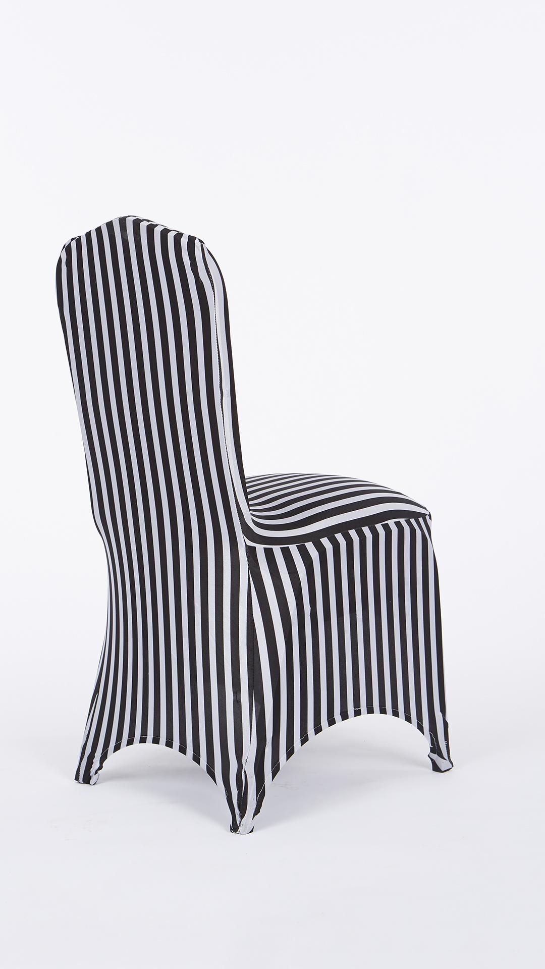 Black Amp White Stripe Stretch Chair Cover Chair Decor