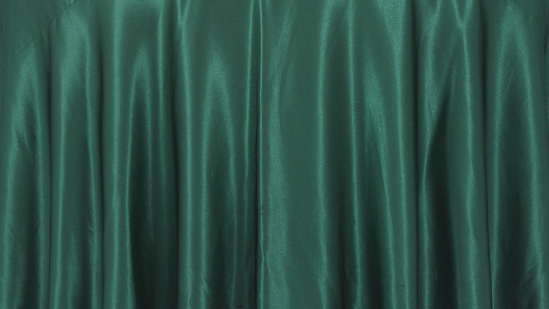 Emerald Green Satin Tablecloth Chair Decor