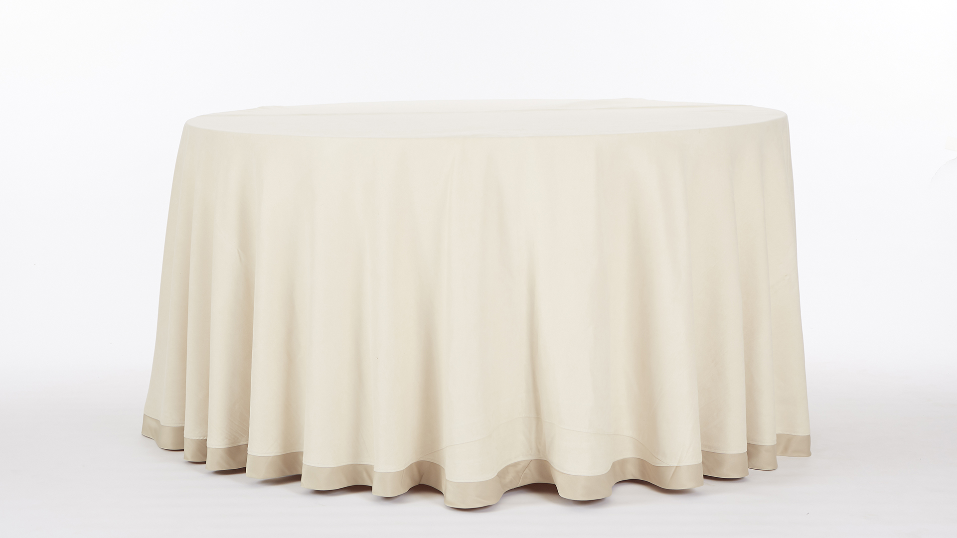 Ivory Suede Tablecloth Chair Decor