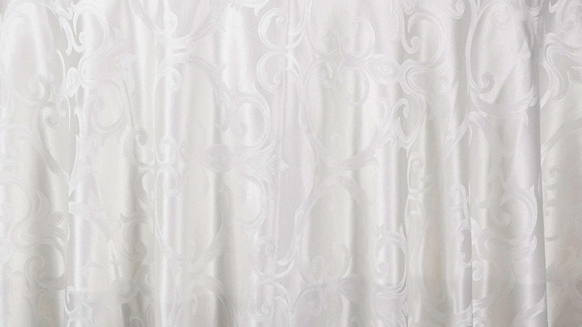 Pearl Swirl Tablecloth Chair Decor